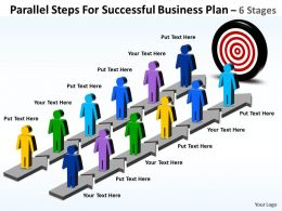 Business PowerPoint Templates parallel steps for successful plan Sales PPT Slides