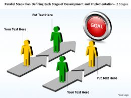 Business PowerPoint Templates parallel steps plan defining each stage of development and implementation Sales PPT Slides