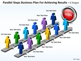 Business PowerPoint Templates parallel steps plan for achieving results Sales PPT Slides
