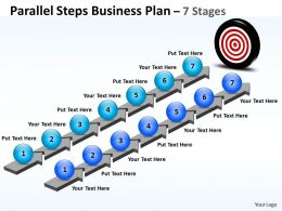 Business PowerPoint Templates parallel steps plan format Sales PPT Slides