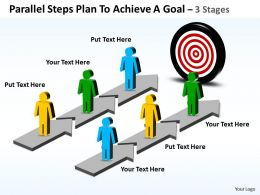 Business PowerPoint Templates parallel steps plan to achieve goal Sales PPT Slides