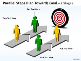 Business PowerPoint Templates parallel steps plan towards goal Sales PPT Slides