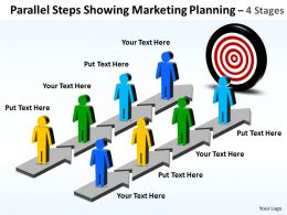 Business PowerPoint Templates parallel steps showing marketing planning Sales PPT Slides