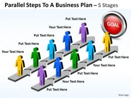 Business PowerPoint Templates parallel steps to plan Sales PPT Slides