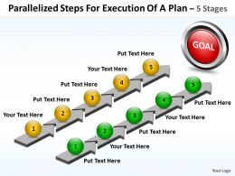 Business PowerPoint Templates parallelized steps for execution of plan Sales PPT Slides