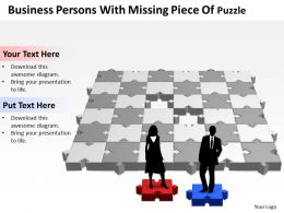 Business PowerPoint Templates persons with missing piece of puzzle Sales PPT Slides