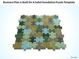 Business PowerPoint Templates plan is built on solid foundation Puzzle Sales PPT Slides