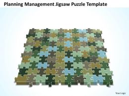 Business PowerPoint Templates planning management jigsaw Sales Puzzle PPT Slides
