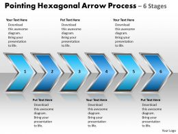 Business PowerPoint Templates pointing hexagonal arrow process 6 stages Sales PPT Slides
