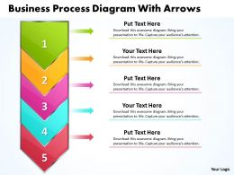 Business PowerPoint Templates process diagram with arrows 2010 Sales PPT Slides 5 stages