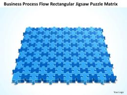 Business PowerPoint Templates process flow rectangular jigsaw Sales Puzzle matrix PPT Slides