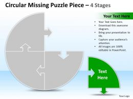 Business PowerPoint Templates process missing Puzzle piece 4 stages Sales PPT Slides
