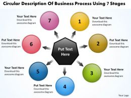 business powerpoint templates process using 7 stages Arrows Software