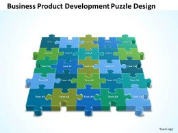 Business PowerPoint Templates product development Puzzle design Sales PPT Slides