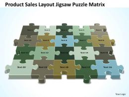 Business PowerPoint Templates product sales layout jigsaw Puzzle matrix PPT Slides
