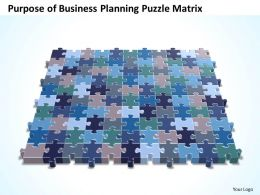 Business PowerPoint Templates purpose of planning Puzzle matrix Sales PPT Slides
