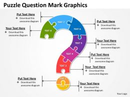 business powerpoint templates puzzle question mark graphics sales ppt slides