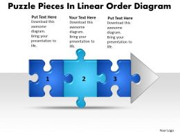 Business PowerPoint Templates puzzle pieces linear order diagram Sales PPT Slides