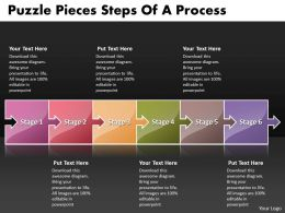 Business PowerPoint Templates puzzle pieces slide numbers of process Sales PPT Slides