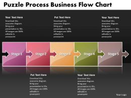 Business PowerPoint Templates puzzle process flow chart Sales PPT Slides