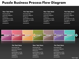 Business PowerPoint Templates puzzle process flow diagarm Sales PPT Slides