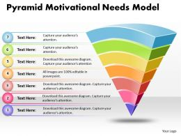Business PowerPoint Templates pyramid motivational needs model Sales PPT Slides