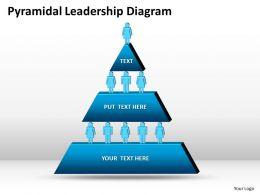 Business PowerPoint Templates pyramidal leadership diagram Sales PPT Slides