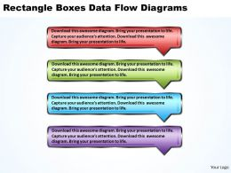 Business PowerPoint Templates rectangle boxes data flow diagrams Sales PPT Slides 4 stages