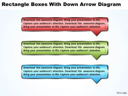 Business PowerPoint Templates rectangle boxes with down arrow diagram Sales PPT Slides 3 stages