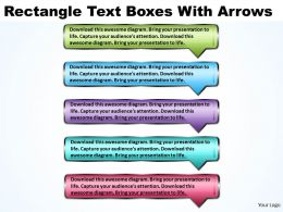 Business PowerPoint Templates rectangle text boxes with 3d arrows Sales PPT Slides 5 stages