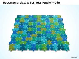 Business PowerPoint Templates rectangular jigsaw Puzzle model Sales PPT Slides