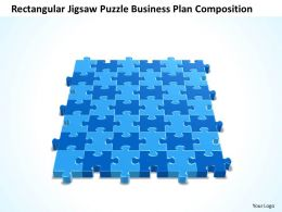 Business PowerPoint Templates rectangular jigsaw Puzzle plan composition Sales PPT Slides