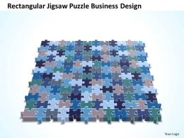 Business PowerPoint Templates rectangular jigsaw Sales Puzzle design PPT Slides