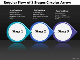 Business PowerPoint Templates regular flow of 3 stage circular arrow Sales PPT Slides
