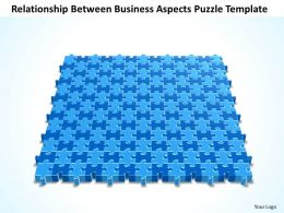 Business PowerPoint Templates relationship between aspects Puzzle Sales PPT Slides