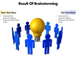 Business PowerPoint Templates result of brainstorming editable powerpoint templates