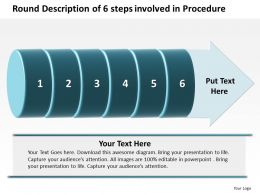 Business PowerPoint Templates round description of 6 steps involved procedure Sales PPT Slides