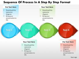 Business PowerPoint Templates sequence of process step by format Sales PPT Slides