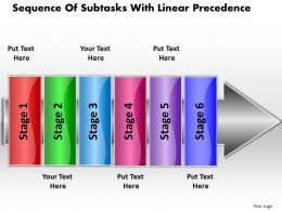 business_powerpoint_templates_sequence_of_subtasks_with_linear_precedence_sales_ppt_slides_Slide01