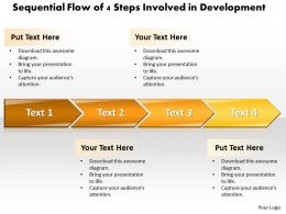 Business PowerPoint Templates sequential flow of 4 steps involved development Sales PPT Slides