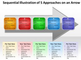 Business PowerPoint Templates sequential illustration of 5 approaches an arrow Sales PPT Slides