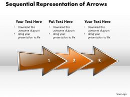 Business PowerPoint Templates sequential representation of arrows Sales PPT Slides
