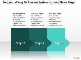 Business PowerPoint Templates sequential way to prevent losses three steps Sales PPT Slides