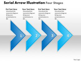 Business PowerPoint Templates serial arrow illustration four phase diagram ppt Sales Slides