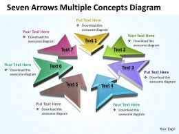Business PowerPoint Templates seven arrows multilple concepts diagram Sales PPT Slides 7 stages