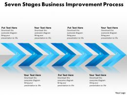 Business PowerPoint Templates seven stages improvement process Sales PPT Slides