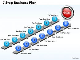 Business PowerPoint Templates seven step plan Sales PPT Slides