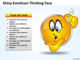 Business PowerPoint Templates shiney emoticon thinking face Sales PPT Slides