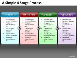 Business PowerPoint Templates simple 4 stage circular process editable Sales PPT Slides