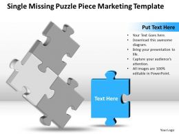 Business PowerPoint Templates single missing Puzzle piece marketing Sales PPT Slides
